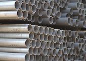 picture of foundation  - Metal profiles tube foundation for building structures steel - JPG