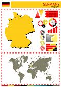 stock photo of nationalism  - vector Germany illustration country nation national culture - JPG