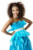picture of mood  - Beautiful African Female Model in Playful Mood - JPG