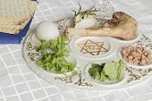 picture of passover  - Jewish seder plate - JPG