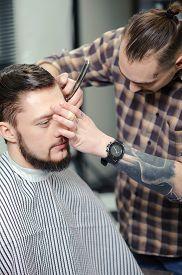 stock photo of barber razor  - Barber skills - JPG
