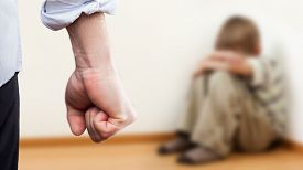 stock photo of punish  - Family violence and aggression concept  - JPG