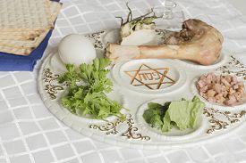 pic of seder  - Jewish seder plate - JPG