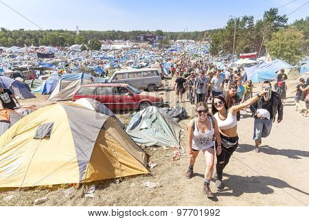 Happy People On The 21Th Woodstock Festival Poland.