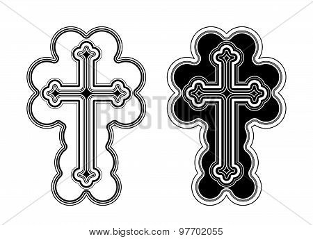 Traditional Armenian Apostolic Church Cross Clip Art.