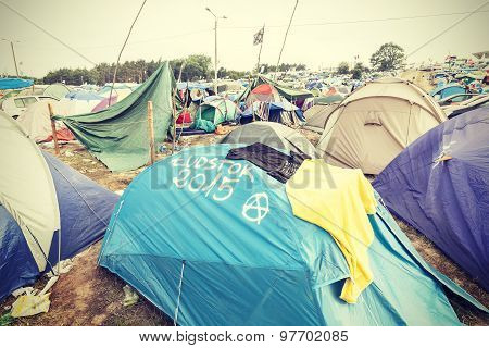 Tent Village In The Morning.