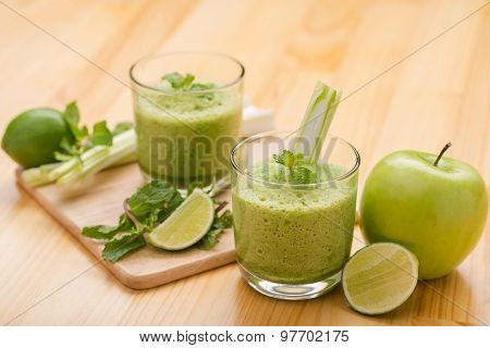 Two Glasses Of Fresh Smoothie