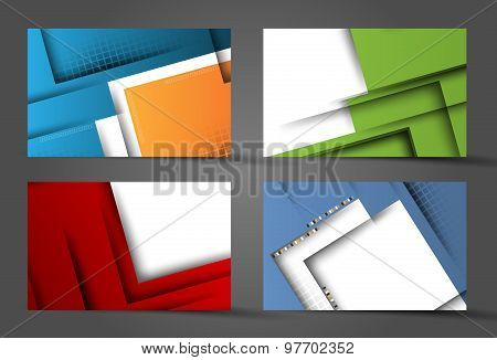 corporate vector layouts