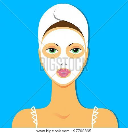 Face Mask - spa treatment for the skin.