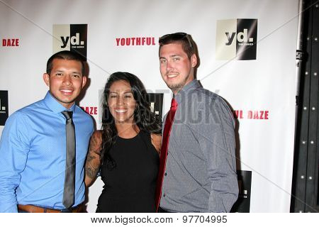 LOS ANGELES - JUL 22:  Javi Marroquin, Gigi Hanna, Jeremy Calvert at the