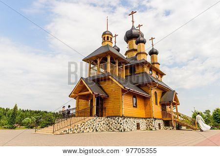 a wooden Orthodox Church