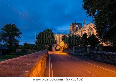 Hexham Abbey At Night