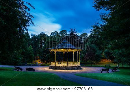 Hexham Bandstand At Night