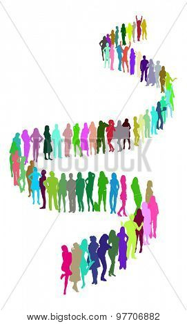 Isolated Illustration  with people