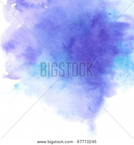 Abstract watercolor background. Vector