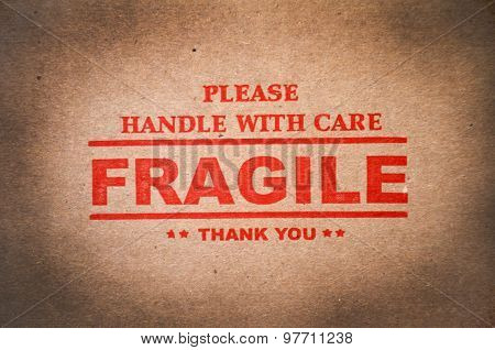 Fragile And Handle With Care Label