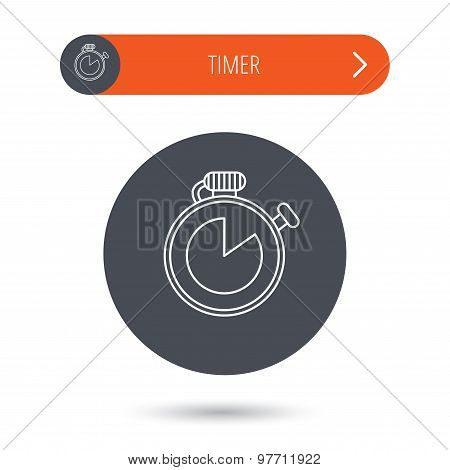 Timer icon. Stopwatch sign.