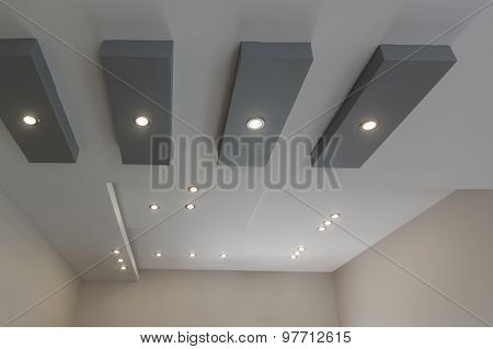 Modern Layered Ceiling With Embedded Lights
