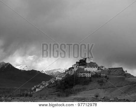 Traditional Tibetan Buddhist Temple On The Hill
