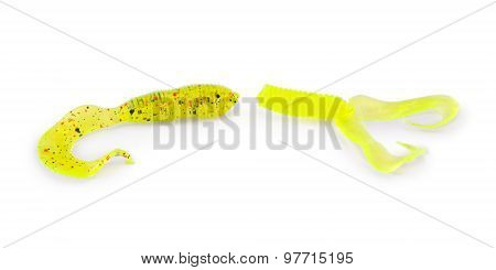 Fishing Bait, Silicone Fish (clipping Path)