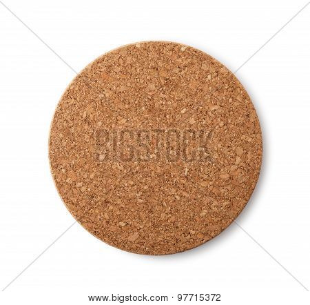 Blank Brown Cork Plate