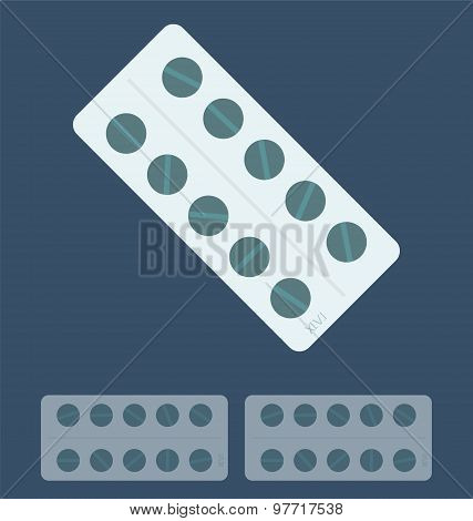 Illustration Of Pills,  Medical Concept.