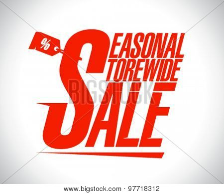 Seasonal store wide sale design template.