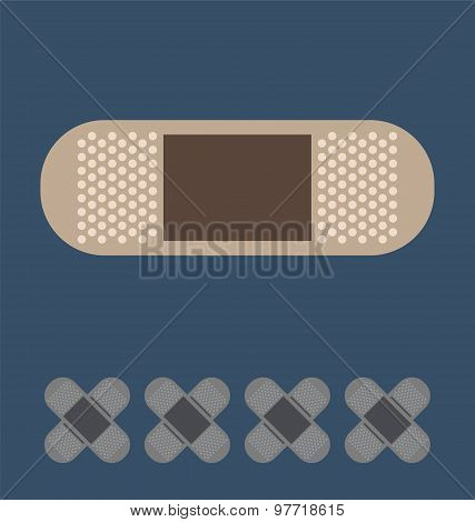 Plaster Icon, Bandage Health. Medical Concept.