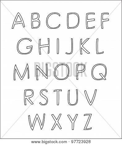 alphabet. Design elements