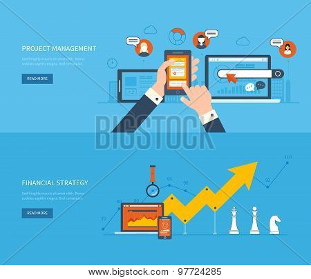 Flat design illustration concepts for business analysis and planning, financial strategy, consulting
