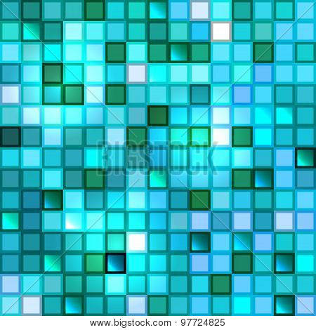 Bright shiny seamless mirror mosaic