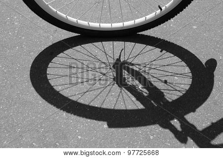 Bicycle wheel, outdoors