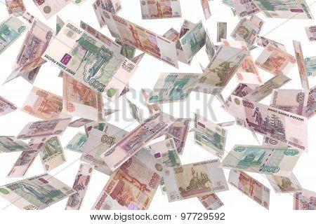 Russian Rubles Rain