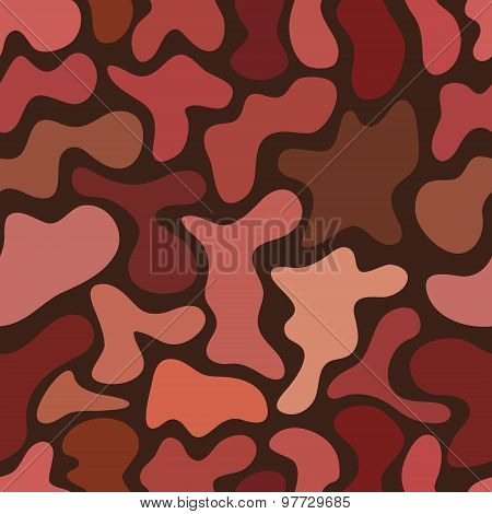 Abstract Chaotic Spotted Seamless Pattern