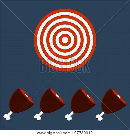 Meat, Ham, Gammon. Target Concept.