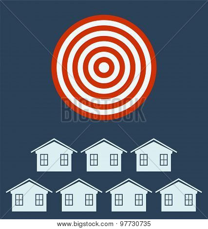 Real Estate Icon From Business. Target Concept.