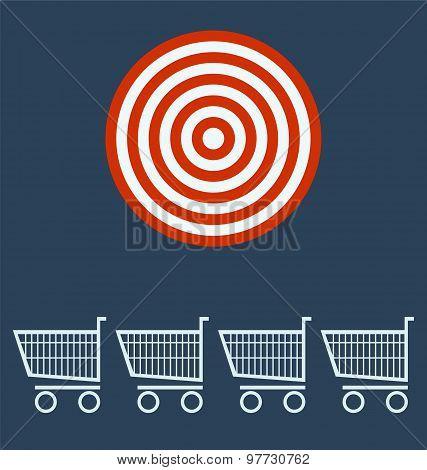 Shopping Chart. Target Concept.