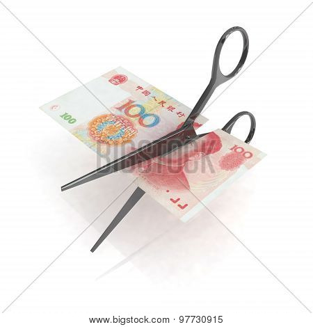 Scissors Cutting Yuan Notes