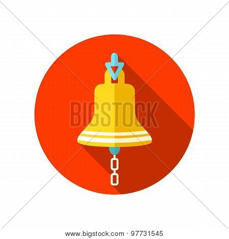 Bell marine flat icon with long shadow