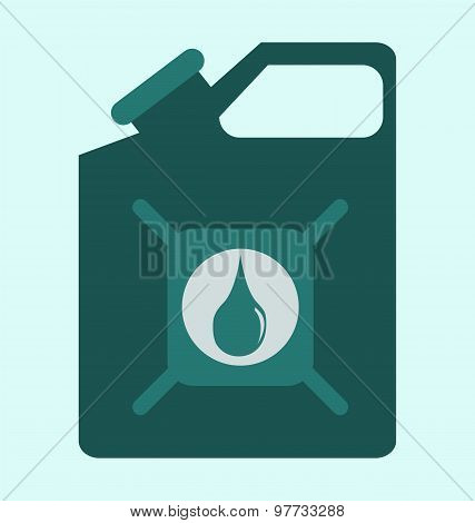 Green Canister Vector Icon, Diesel Tank