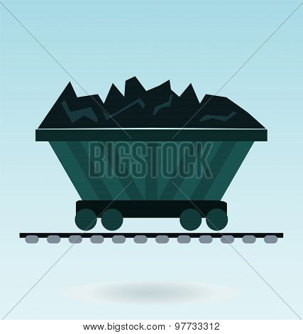 Wagon Loaded With Coal Icon