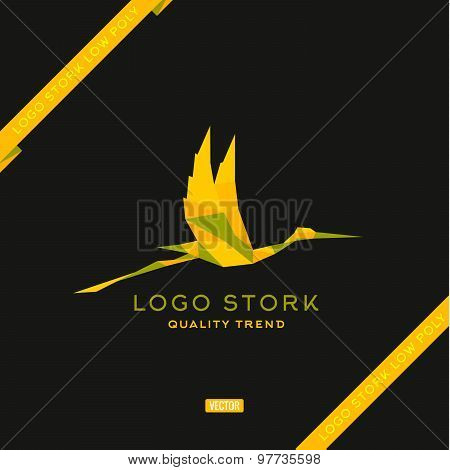 Bird the style polygon low poly flat vector trend