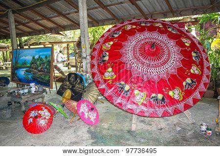 Rice paper umbrellas