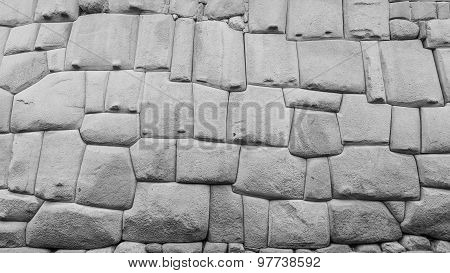 Famous Inca Wall In Cusco Peru