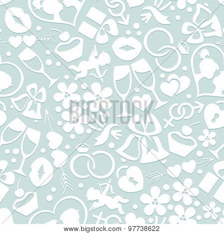Pale romantic seamless pattern