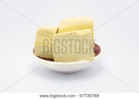 White tofu cheese