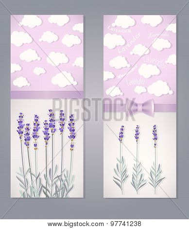 Card with lavender