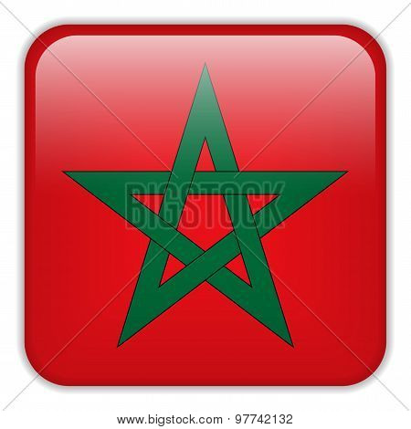 Morocco Flag Smartphone Application Square Buttons