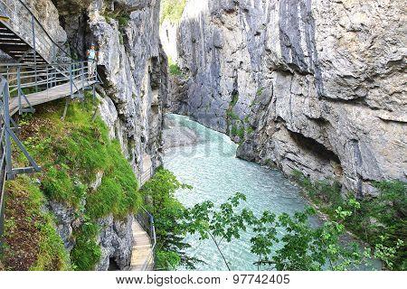 Canyon Aare Gorge. Switzerland.