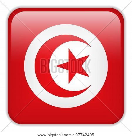Tunisia Flag Smartphone Application Square Buttons